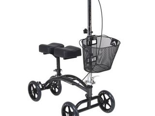 Drive Medical Dual Pad Steerable Knee Walker with Basket   Alternative to Crutches
