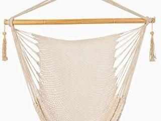 Patio Watcher Hammock Chair Hanging Rope Swing Seat with Hardware Kits  Perfect for Indoor  Outdoor  Home  Bedroom  Patio  Yard  Deck  Garden