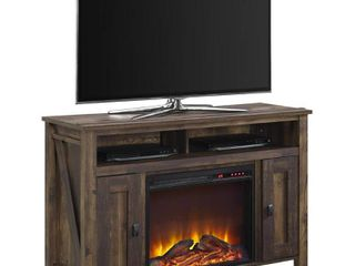 Ameriwood Home Farmington Electric Fireplace TV Console for TVs up to 50    Distressed Box