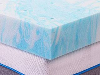 Zimya NYC   3 Inch Gel Memory Foam Mattress Topper with Ventilated Design   Appears to be a Full or Queen Size