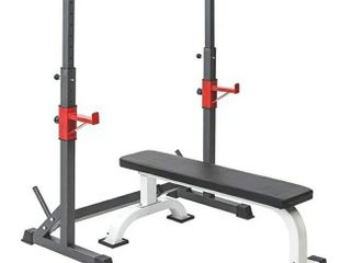 Multi Function Barbell Rack 550 lBS Dipping Station Adjustable Squat Weight Bench Press Gym Family Fitness
