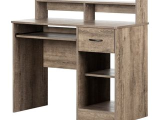 South Shore Axess Desk with Keyboard Tray Weathered Oak