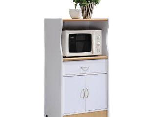 HODEDAH IMPORT Microwave Cart  White