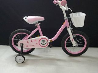 Cycmoto girls bicycle with training wheels and basket Pink 43 in  length x 28 in height
