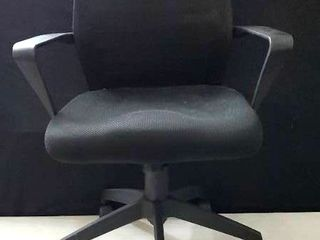 Black Office Chair with wheels 3 ft  tall x 25 in width