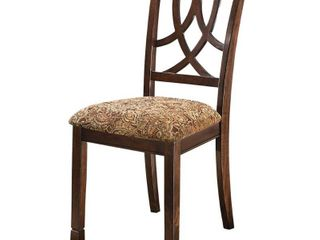 2pc leahlyn Dining Upholstered Side Chair Medium Brown   Signature Design by Ashley some scratches see photos