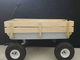 Child s Wagon gray  issing one wheel