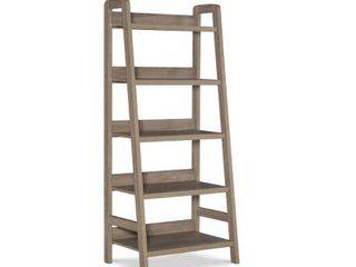 linon Tracey ladder Bookcase  Grey  5 Shelves