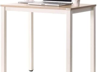 SOFSYS 31  Computer Writing Desk Workstation Table Home Office Design for Video Gaming  Designers and Entrepreneurs  Small Desktop with Sturdy Metal Frame  Oak White