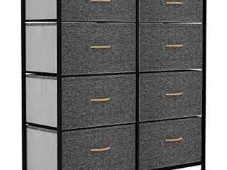 8 Drawer Storage Chest  Steel Frame Fabric Drawers