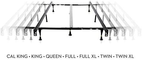 Structures Universal bed frame with glides  adjustable from twin to California king
