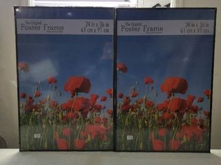 4 Plastic Poster Frames 24in x36in   3 complete   1 Missing Pieces