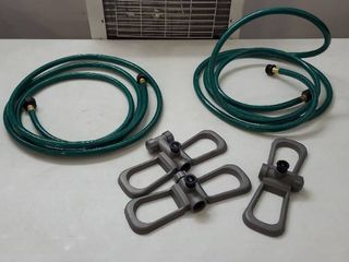 2 Garden Hoses 142 in  length and 3 Sprinkler Attachments