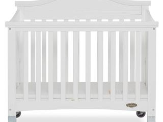 Dream On Me Venice Folding Portable Crib White