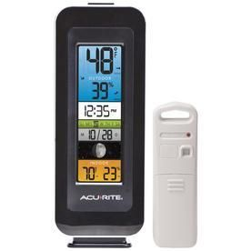 AcuRite Digital Wireless Indoor Outdoor Black Thermometer