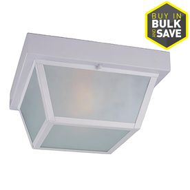 Portfolio 10 37 in W White Outdoor Flush Mount light