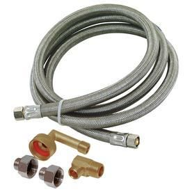 EASTMAN 8 ft 1 800 PSI Stainless Steel Dishwasher Connector