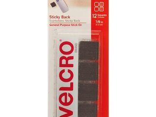 VElCRO 7 8  Sticky Back Squares Adhesives Black