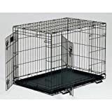 Midwest life Stages Double Door Folding Metal Dog Crate  42 Inches by 28 Inches by 31 Inches