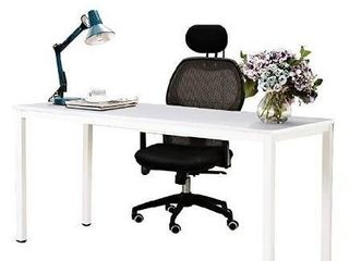 Need Computer Desk 63 inches large Desk Writing Desk with BIFMA Certification Workstation Office Desk White AC3DW 160