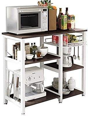 soges 3 Tier Kitchen Baker s Rack Utility Microwave Oven Stand Storage Cart Workstation Shelf  W5s B