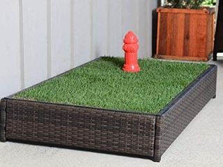 Porch Potty Standard Without Sprinklers  Outer Dimensions 26  x 50  x 7  Grass Area 8 Square Feet  4  x 2