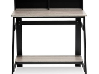 Furinno Simplistic Computer Desk with Built in Hutch   Not Inspected