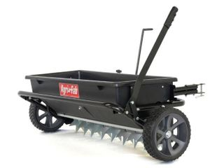 Agri Fab  Inc  100 lb  32  Spread Drop Spreader Spike Aerator Tow Behind lawn Groomer Model  45 0543