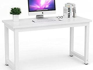 ribesigns Modern Simple Style Computer Desk PC laptop Study Table Workstation for Home Office White