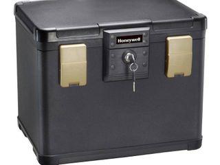 Honeywell 0 6 cu  ft  Waterproof 30 Minute Fire Chest with Key lock  1106  NO KEYS