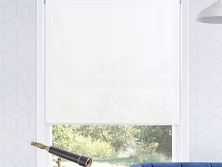 Chicology Snap N Glide Cordless Roller Shades   Window Blind Curtain Drape  light Filtering  Privacy   Urban White  35 W X 72 H