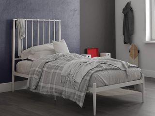 DHP Giulia Modern Metal Bed  White  Twin