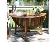 Outdoor Interiors Round Folding Table  48 Inch  Brown