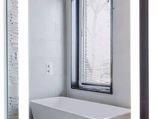 Homewerks 100150 White 24ax30a led Bathroom Mirror Anti Fog Wall Mounted Hori