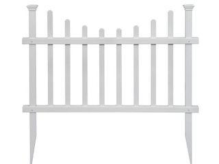 Zippity Outdoor Products 2 5 ft  H x 3 5 ft W Washington Vinyl Picket Fence Panel Kit  2 Pack  White Vinyl  PVC