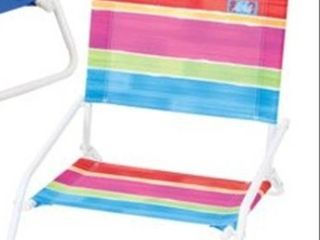 Rio Beach Wave 1 position Beach Folding Sand Chair   Ocean Stripes
