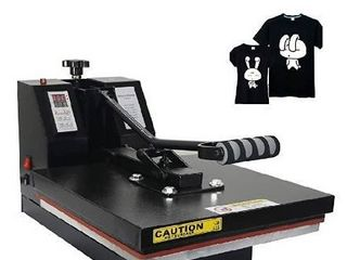 RoyalPress 15  x 15  Industrial Quality Intelligent Memory Digital Sublimation Heat Transfer Machine T Shirt Heat Press Machine  15  x 15  Black