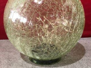 lED lights Crackled Glass Gazing Ball
