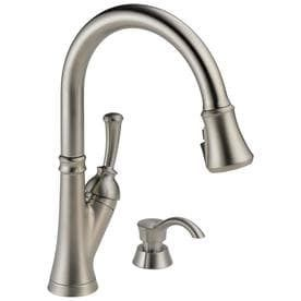 Delta Savile Stainless 1 handle Deck Mount Pull down ShieldSpray Kitchen Faucet