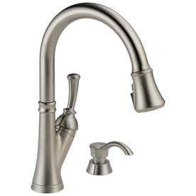 Delta Savile Stainless 1 handle Deck Mount Pull down ShieldSpray Kitchen Faucet