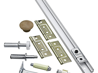 National Hardware N343 715 36  White Folding Door Hardware Set