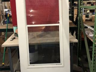 White larson Door   Outside Screen  Window  With Hardware