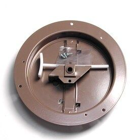 Accord ABCDBRD08 Ceiling Damper with Round Butterfly Design  8 Inch  Brown