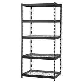 Edsal MROP3618W5B Steel Storage Rack  5 Adjustable Shelves  5000 lb  Capacity  72  Height x 36  Width x 18  Depth  Black