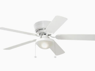 Harbor Breeze Armitage 52 in White led Indoor Flush Mount Ceiling Fan