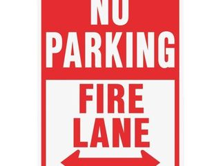 Hyko Prod  12x18 Fire lane Sign HW 26