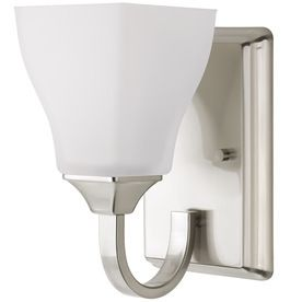 DElTA Olmsted Brushed Nickel Bathroom Vanity light