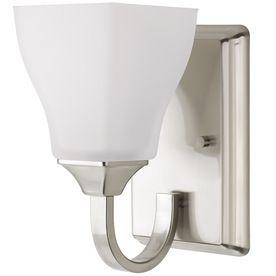 DElTA Olmsted Brushed Nickel Bathroom Vanity light