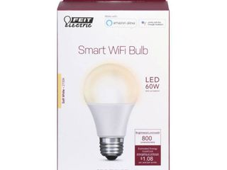 FEIT ElECTRIC 9W SW lED Smart Bulb OM60 927CA AG
