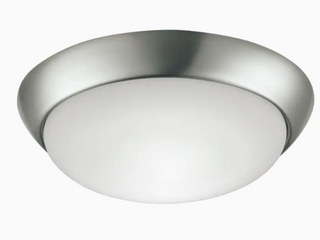 Project Source 13 in Brushed Nickel Traditional led Flush Mount light